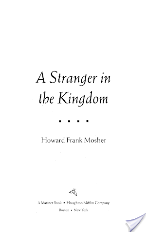 A Stranger in the Kingdom